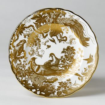 """Royal Crown Derby - """"Gold Aves"""" Bread & Butter Plate, 6"""""""