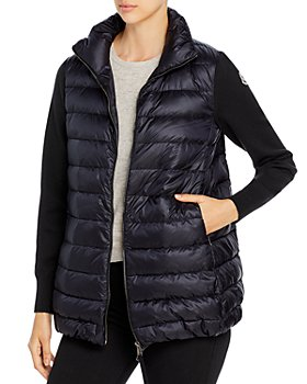 Moncler - Cardigan Knit Sleeve Down Puffer Coat