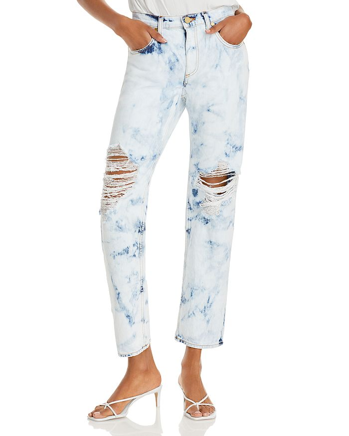Ramy Brook - Elle Distressed Acid-Wash Boyfriend Jeans