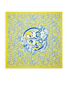 Tory Burch - Yellow Swirl Square Silk Scarf