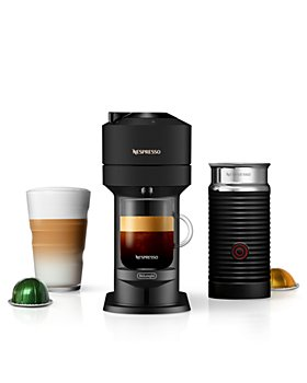 Nespresso - Vertuo Next Coffee and Espresso Maker by De'Longhi, Limited Edition Matte Black with Aeroccino Milk Frother
