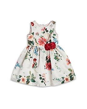 Pippa & Julie - Girls' Floral Print Satin Dress - Baby