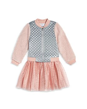 Pippa & Julie - Girls' Sherpa Bomber Jacket & Tutu Dress Set - Baby