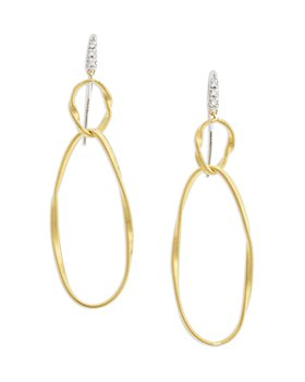 Marco Bicego - 18K Yellow Gold Onde Double Link Hook Earrings