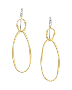 Marco Bicego 18K Yellow Gold Onde Double Link Hook Earrings-Jewelry & Accessories