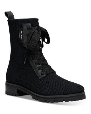 Merigue Knit Combat Boots