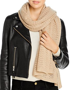 C by Bloomingdale's - Pointelle Knit Wrap Scarf - 100% Exclusive