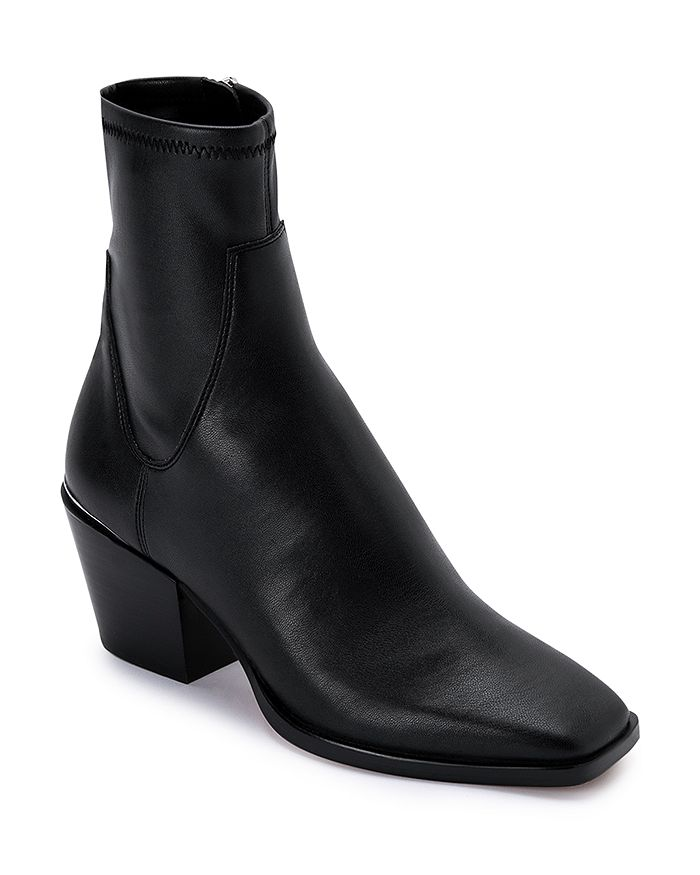 Dolce Vita - Women's Sid Square Toe Mid Heel Faux Leather Booties