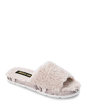 Dolce Vita - Women's Mochi Studded Plush Slippers