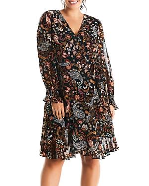 Estelle Plus Love Potion Paisley Print Wrap Dress