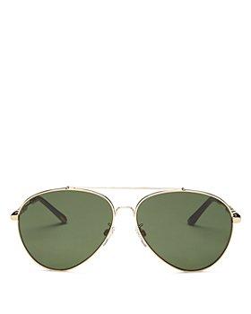 Burberry - Women's Brow Bar Aviator Sunglasses, 60mm