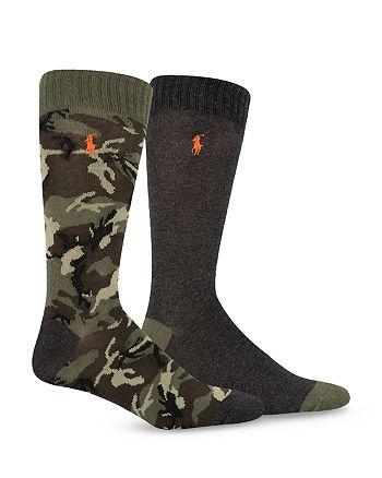 Polo Ralph Lauren - Camo Slack Socks, Pack of 2