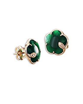 Pasquale Bruni - 18K Rose Gold Petit Joli Green Agate & Diamond Stud Earrings