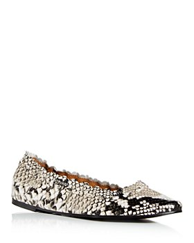 See by Chloé - Women's Jane Snake Embossed Ballet Flats