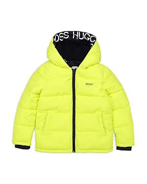 Hugo Boss BOYS' HOODED PUFFER JACKET - BIG KID