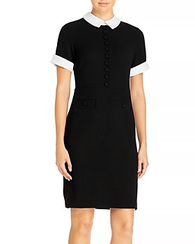 KARL LAGERFELD PARIS - Contrast Collar Dress