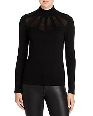 T Tahari Mock Neck Illusion Detail Sweater-Women