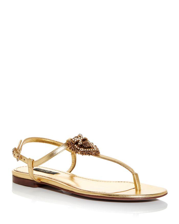 Dolce & Gabbana Women's Embellished Thong Sandals  | Bloomingdale's