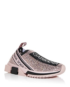 Dolce & Gabbana - Women's Sorrento Crystal Slip On Sneakers