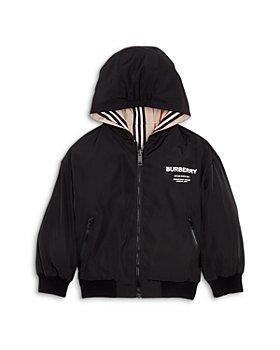 Burberry - Boys' Tommy Icon Stripe Reversible Hooded Jacket - Little Kid, Big Kid