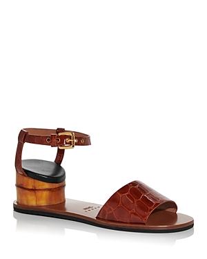 Marni Women\\\'s Croc Embossed Inverted Heel Sandals