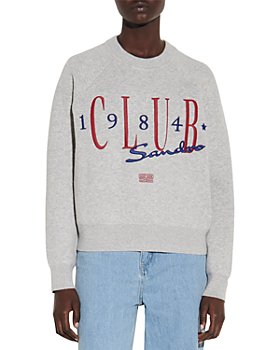 Sandro - Clubs Sweatshirt Style Sweater With Embroidery