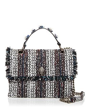 Kurt Geiger London Kensington Large Embellished Tweed Crossbody-Handbags