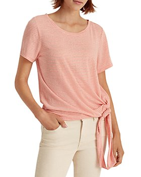 Ralph Lauren - Striped Tie Hem Top
