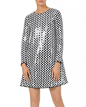 Armani - Sequined Checkered Dress