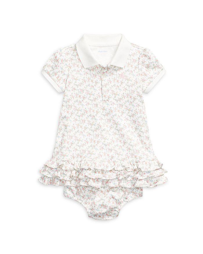 Ralph Lauren - Girls' Ruffled Floral Print Cotton Polo Dress - Baby
