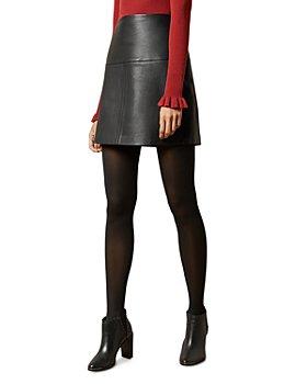 Ted Baker - Valiat Leather Mini Skirt