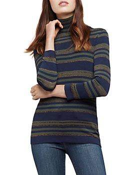 L'AGENCE - Harlee Striped Turtleneck Sweater