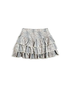 CHASER - Girls' Leopard Print Ruffle Skort - Little Kid, Big Kid