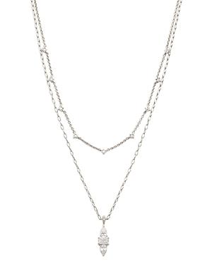 Nadri Katherine Cubic Zirconia Layered Pendant Necklace, 16-18