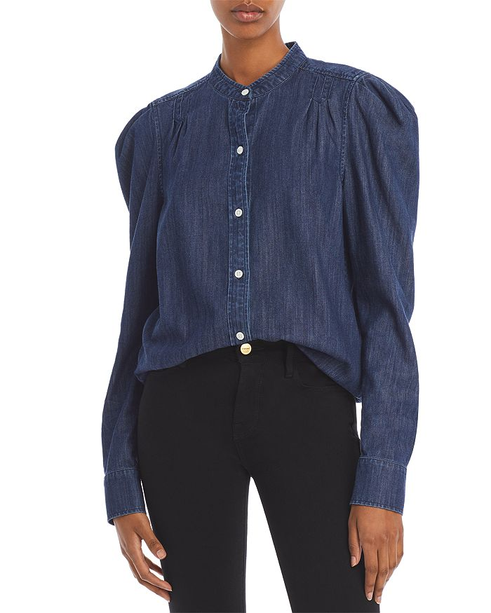 FRAME - Charlie Button Front Puff Sleeve Shirt