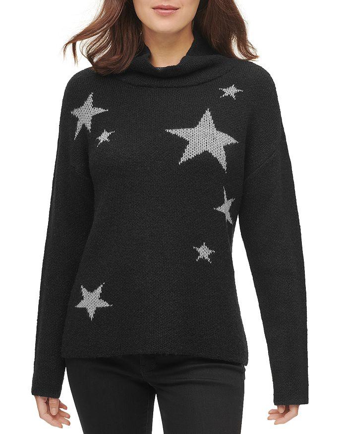 DKNY - Star Print Turtleneck Sweater