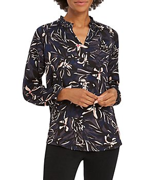 NIC and ZOE - Inky Blooms Blouse