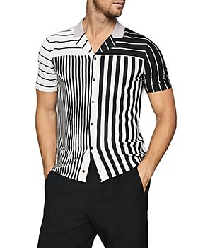 REISS - Orso Striped Color Blocked Shirt