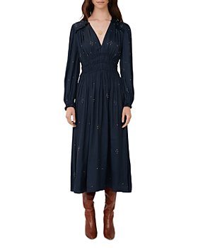 Maje - Rianni Studded Smocked Dress
