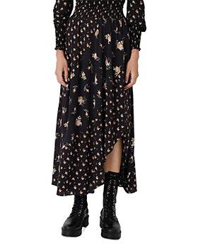 Maje - Jartri Floral Print Midi Skirt