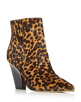 Tory Burch - Women's Lila Leopard Pointed Toe Booties