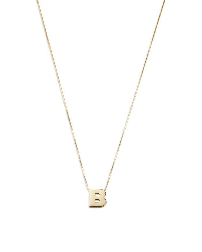 "Bloomingdale's Bloomingdale's Initial Pendant Necklace in 14K Yellow Gold, 16"" - 100% Exclusive  | Bloomingdale's"