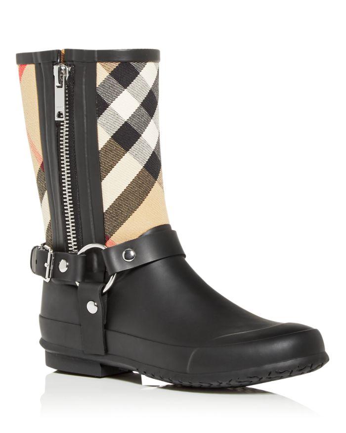 Burberry Women's Zane Check Rain Boots   | Bloomingdale's