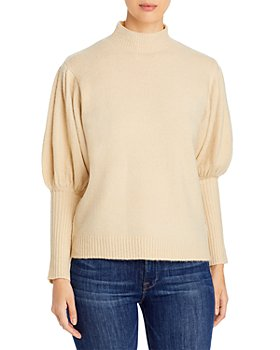 Elan - Puff Sleeve Turtleneck Sweater