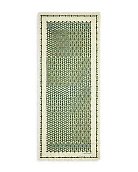Tory Burch - Gemini Medallion Ribbon Wool & Cashmere Scarf