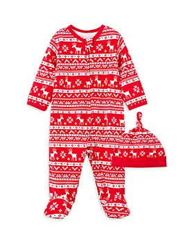 Little Me - Boys' Cotton Holiday Footie & Hat Set - Baby
