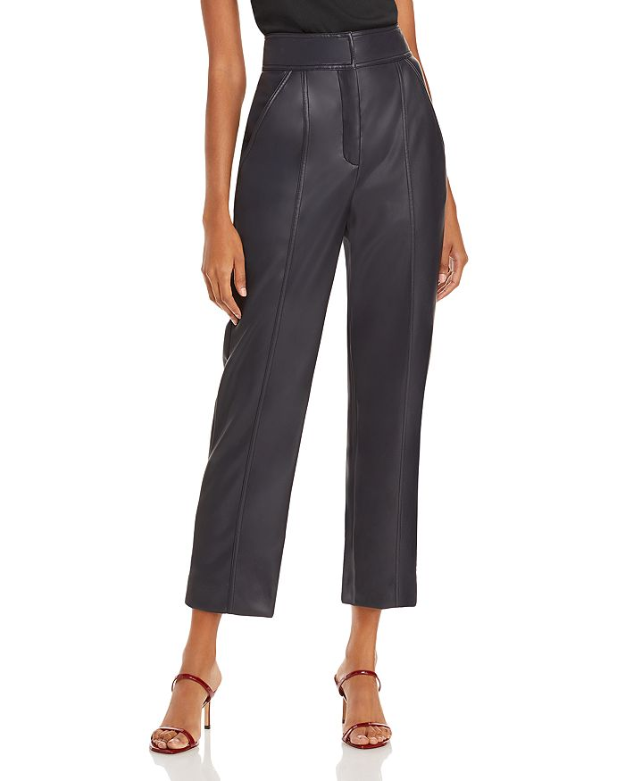 Rebecca Taylor - Stovepipe Cropped Faux Leather Pants