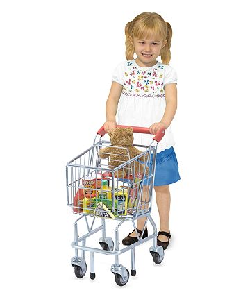 Melissa & Doug - Shopping Cart, Fridge Fillers & Wooden Pantry Products Bundle - Ages 3+