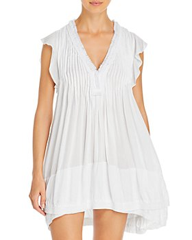 Poupette St. Barth - Sasha Lace Trim Mini Dress