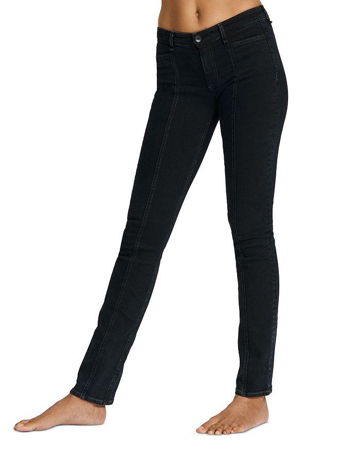 rag & bone - Cate Mid-Rise Tailor Jeans in Black Bird